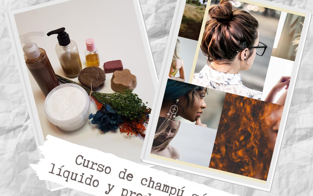 Oferta especial curso online de elaboración de champú líquido, sólido y productos de tratamiento capilar
